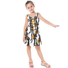 Business Men Marching Concept Kids  Sleeveless Dress