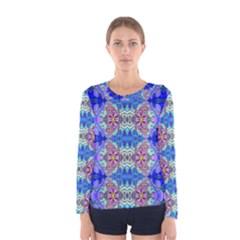 blue crystal-Annabellerockz-4 Women s Long Sleeve Tee