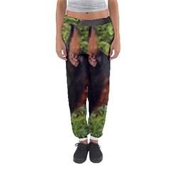 Doberman Pinscher Women s Jogger Sweatpants