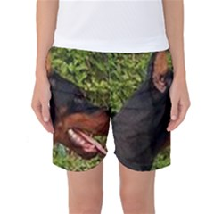 Doberman Pinscher Women s Basketball Shorts