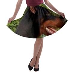 Doberman Pinscher A-line Skater Skirt