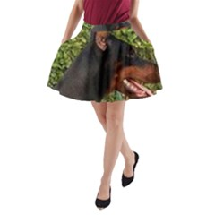 Doberman Pinscher A-Line Pocket Skirt