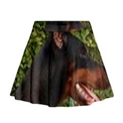 Doberman Pinscher Mini Flare Skirt