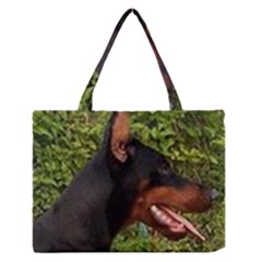 Doberman Pinscher Medium Zipper Tote Bag