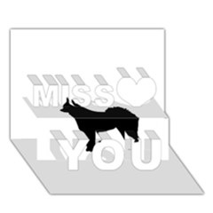 Eurasier Silo Black Miss You 3D Greeting Card (7x5)