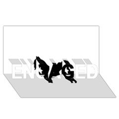 Eurasier Silo Black ENGAGED 3D Greeting Card (8x4)