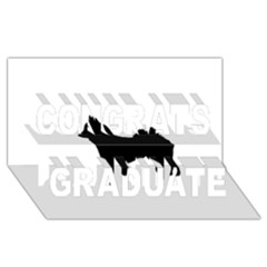 Eurasier Silo Black Congrats Graduate 3D Greeting Card (8x4)