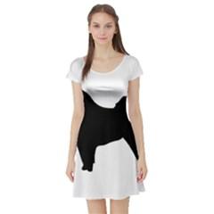 Eurasier Silo Black Short Sleeve Skater Dress