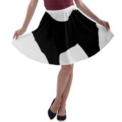 Eurasier Silo Black A-line Skater Skirt