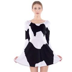 Eurasier Silo Black Long Sleeve Velvet Skater Dress
