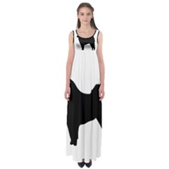 Eurasier Silo Black Empire Waist Maxi Dress