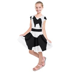 Eurasier Silo Black Kids  Short Sleeve Dress