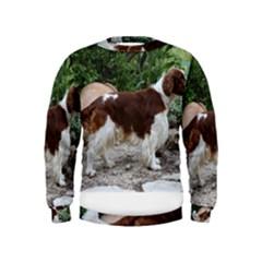 Welsh Springer Spaniel Full Kids  Sweatshirt