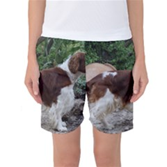 Welsh Springer Spaniel Full Women s Basketball Shorts