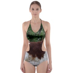 Welsh Springer Spaniel Full Cut-Out One Piece Swimsuit