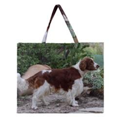 Welsh Springer Spaniel Full Zipper Large Tote Bag