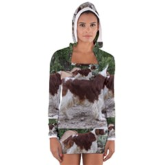 Welsh Springer Spaniel Full Women s Long Sleeve Hooded T-shirt