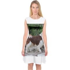 Welsh Springer Spaniel Full Capsleeve Midi Dress