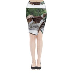 Welsh Springer Spaniel Full Midi Wrap Pencil Skirt