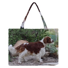 Welsh Springer Spaniel Full Medium Zipper Tote Bag