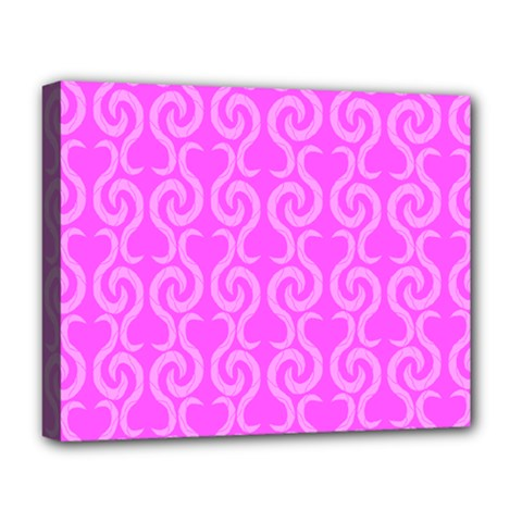 Pink elegant pattern Deluxe Canvas 20  x 16