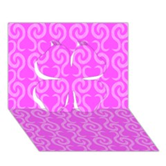 Pink elegant pattern Clover 3D Greeting Card (7x5)