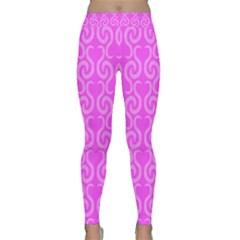 Pink elegant pattern Classic Yoga Leggings
