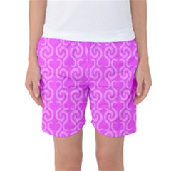 Pink elegant pattern Women s Basketball Shorts