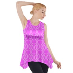 Pink elegant pattern Side Drop Tank Tunic