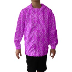 Pink elegant pattern Hooded Wind Breaker (Kids)