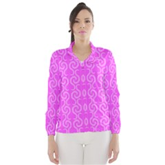 Pink elegant pattern Wind Breaker (Women)