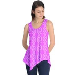 Pink elegant pattern Sleeveless Tunic