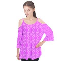 Pink elegant pattern Flutter Tees