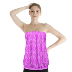 Pink elegant pattern Strapless Top
