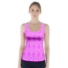 Pink elegant pattern Racer Back Sports Top