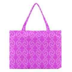 Pink elegant pattern Medium Tote Bag