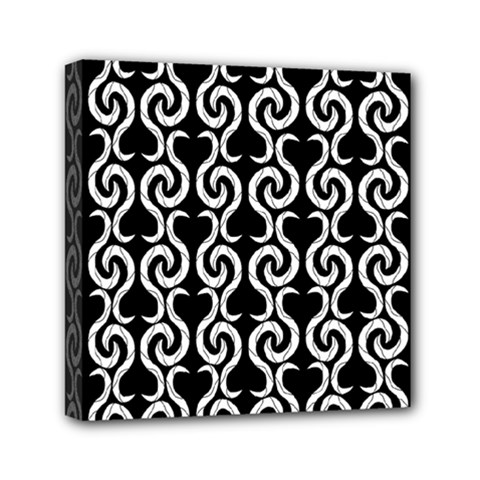 Black and white pattern Mini Canvas 6  x 6