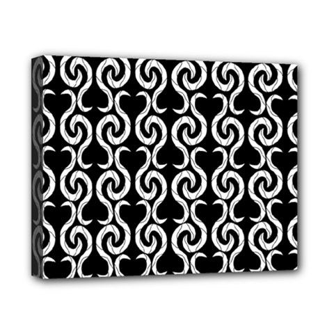 Black and white pattern Canvas 10  x 8