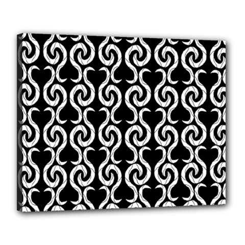 Black and white pattern Canvas 20  x 16