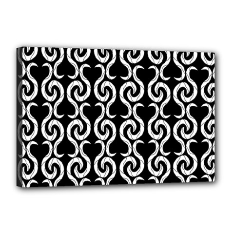 Black and white pattern Canvas 18  x 12