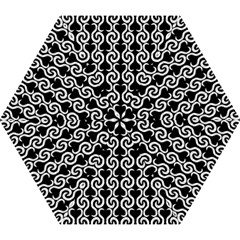 Black and white pattern Mini Folding Umbrellas