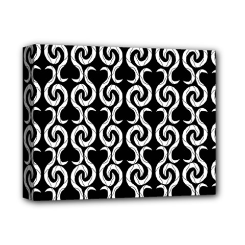 Black and white pattern Deluxe Canvas 14  x 11
