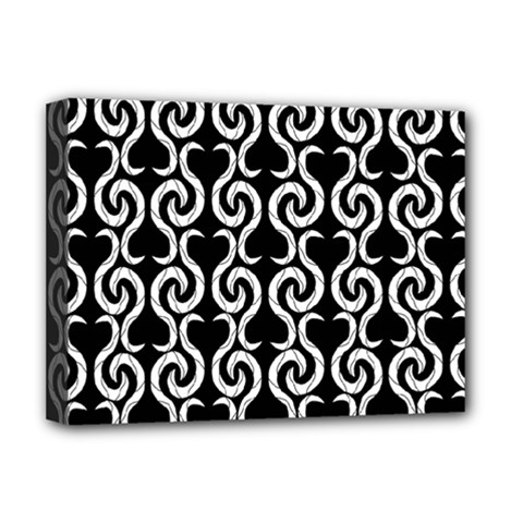 Black and white pattern Deluxe Canvas 16  x 12