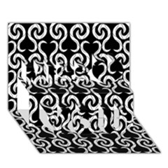 Black and white pattern Miss You 3D Greeting Card (7x5)