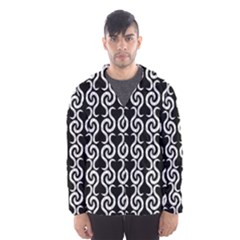 Black and white pattern Hooded Wind Breaker (Men)