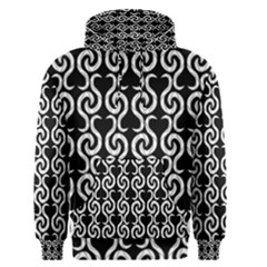 Black and white pattern Men s Pullover Hoodie