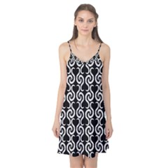 Black and white pattern Camis Nightgown