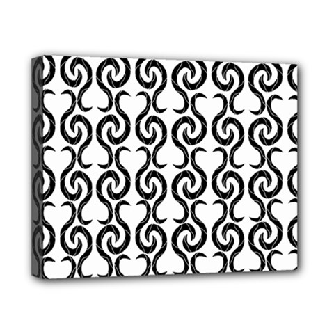 White and black elegant pattern Canvas 10  x 8