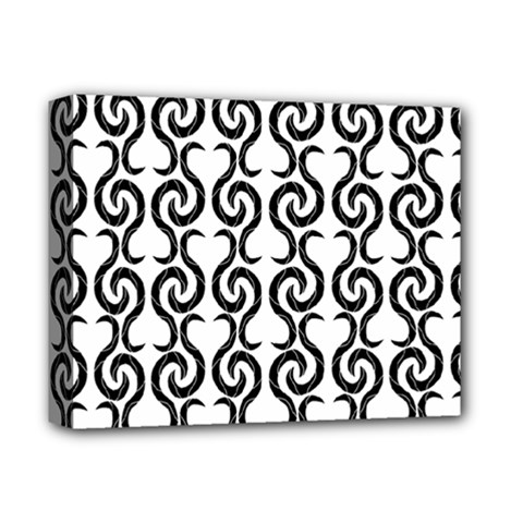 White and black elegant pattern Deluxe Canvas 14  x 11