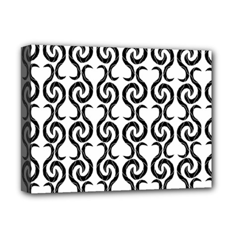 White and black elegant pattern Deluxe Canvas 16  x 12